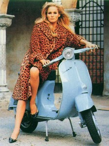 Not the Vespa I'm talking about, but I guess she could be a nun somewhere. In my dreams.